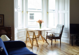 Image of table and chairs from Scotland Street domestic property