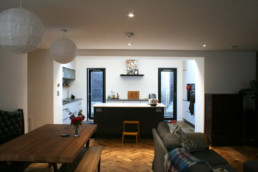 open plan kitchen and living room newhaven
